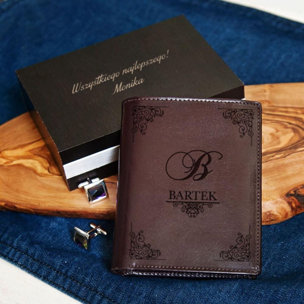 portfel skórzany - elegant