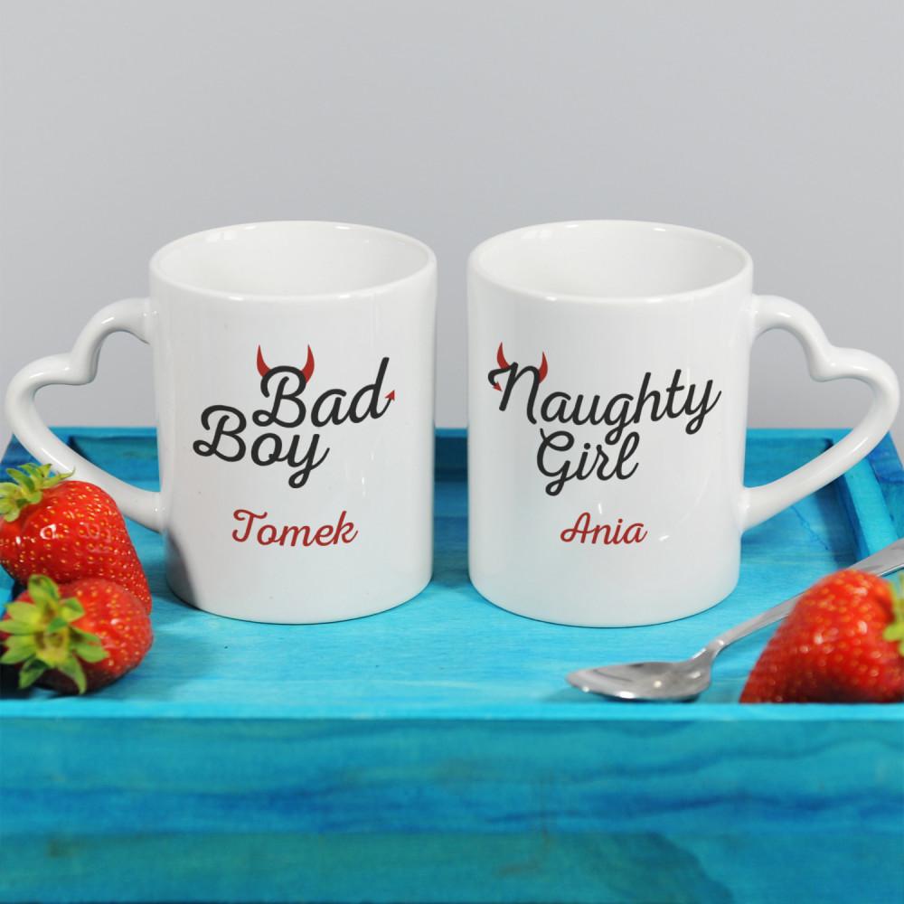kubki dla par - naughty girl & bad boy