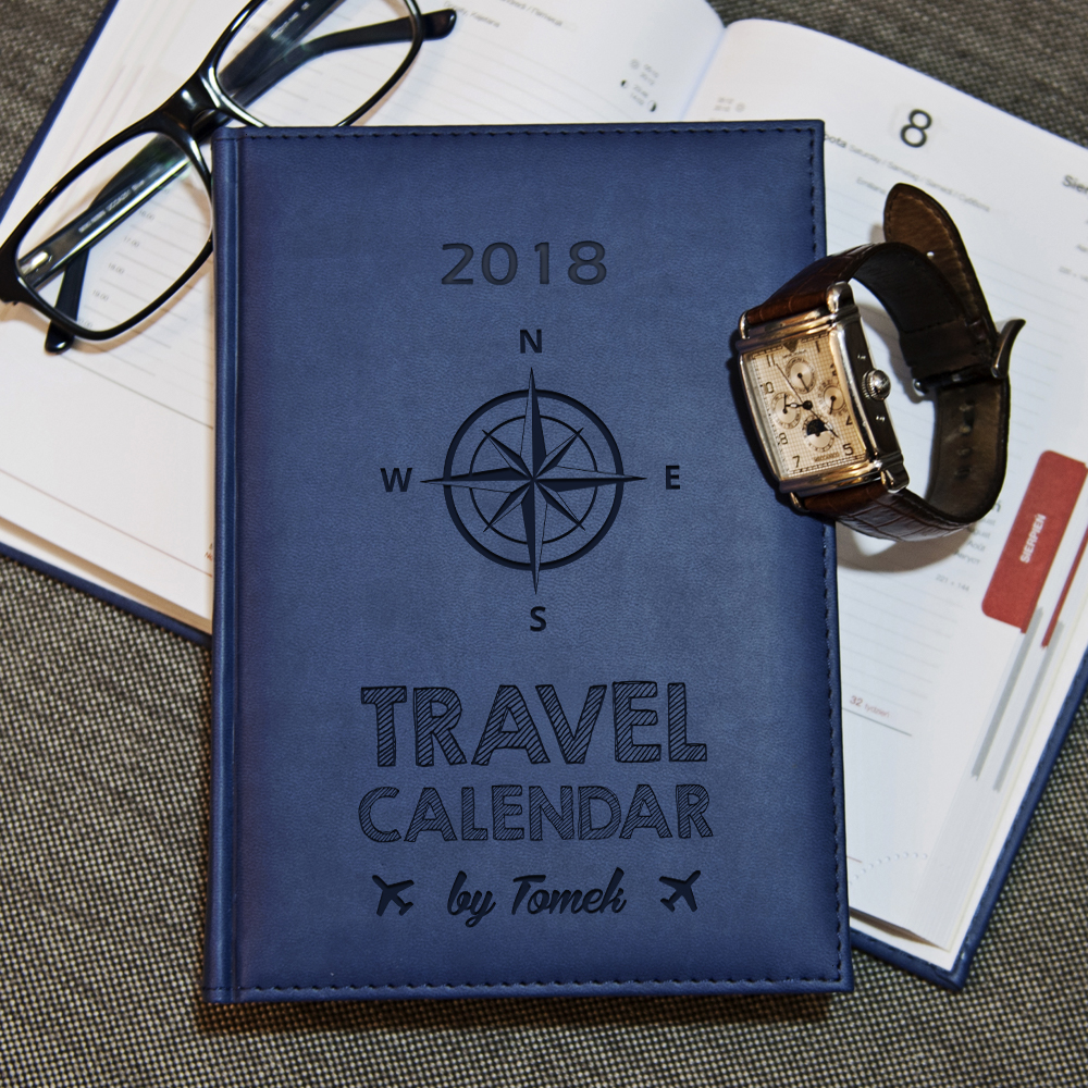 travel calendar - kalendarz 2018