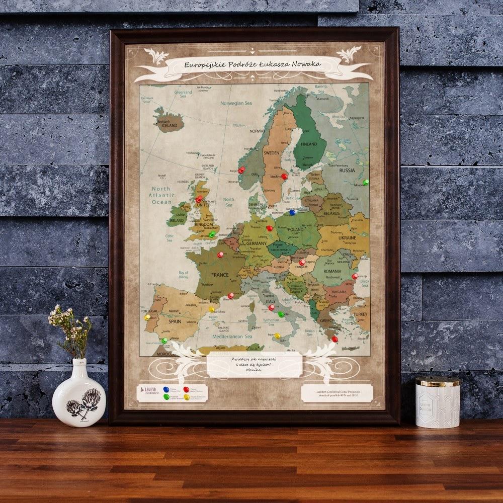 Mapa podróży - Europa