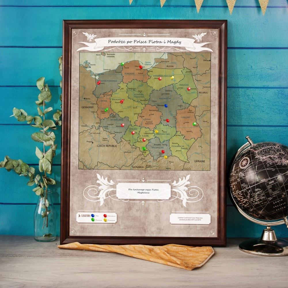 Mapa podróży - Polska