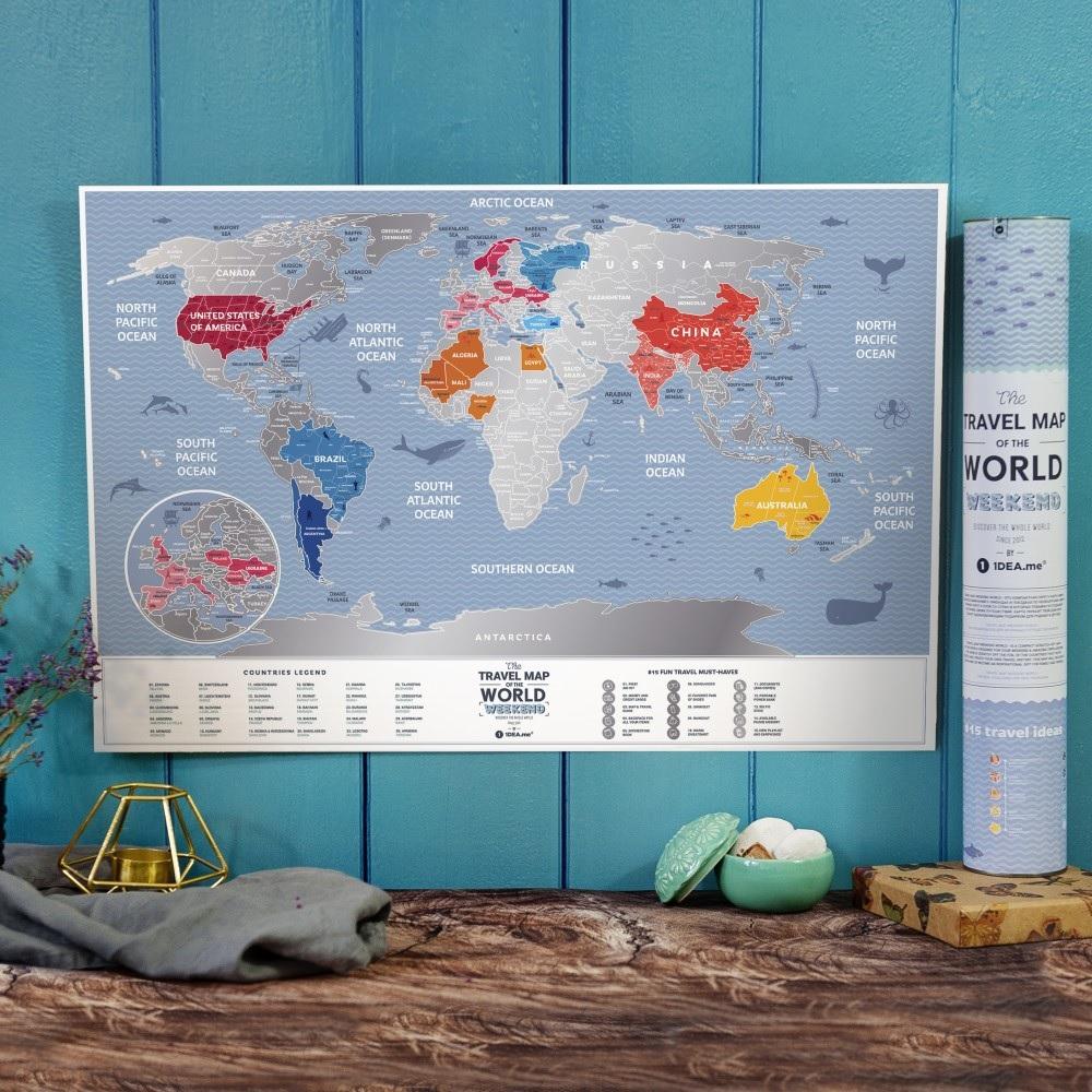 Mapka zdrapka świat - mapa podróży