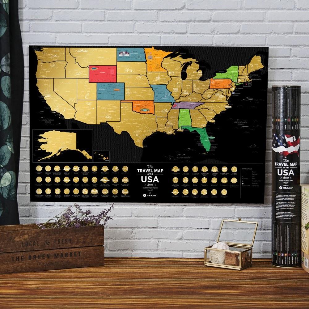 Mapa zdrapka USA - mapa podróży