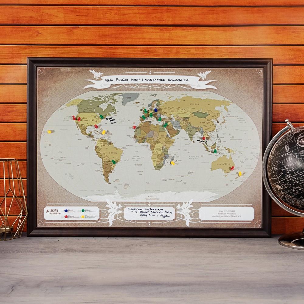 mapa podróży - prezent dla teściowej na imieniny