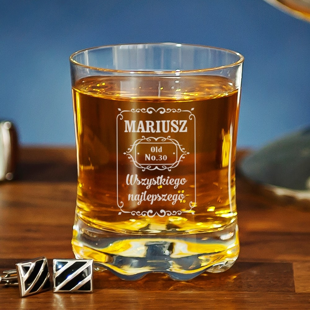 Szklanka do whisky - prezent na 30 urodziny dla brata