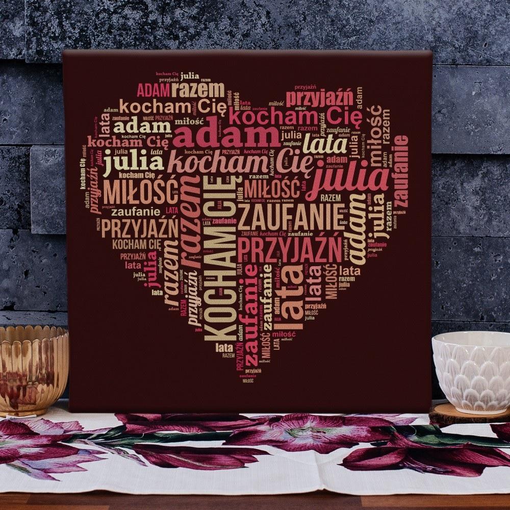 Obraz ze słów - pomysł na prezent dla dziewczyny