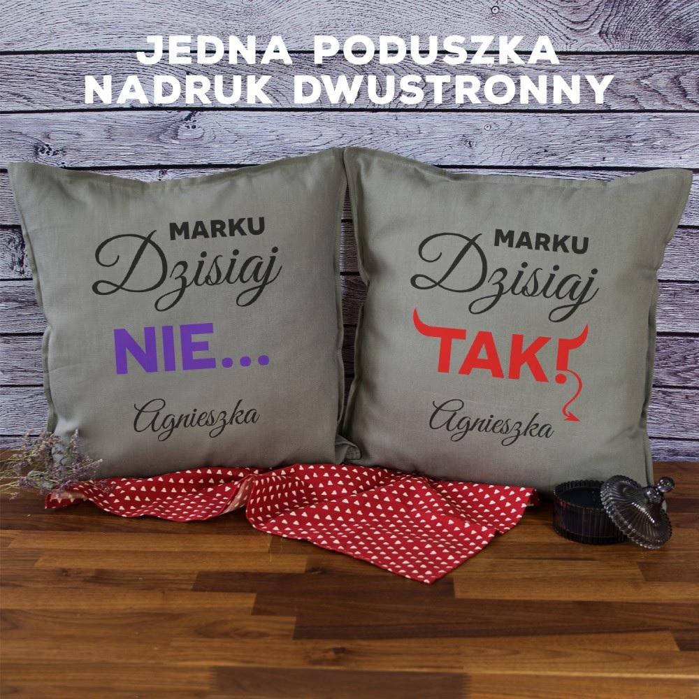 Poduszka dekoracyjna - prezent dla narzeczonego
