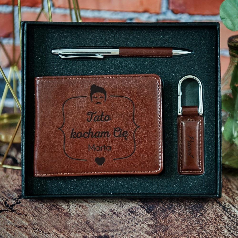 Zestaw z portfelem - praktyczny prezent dla taty