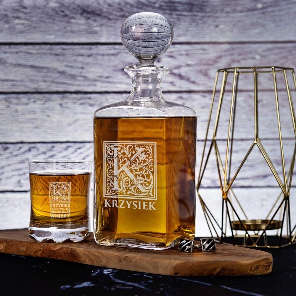 Karafka i szklanki do whisky - prezent dla taty
