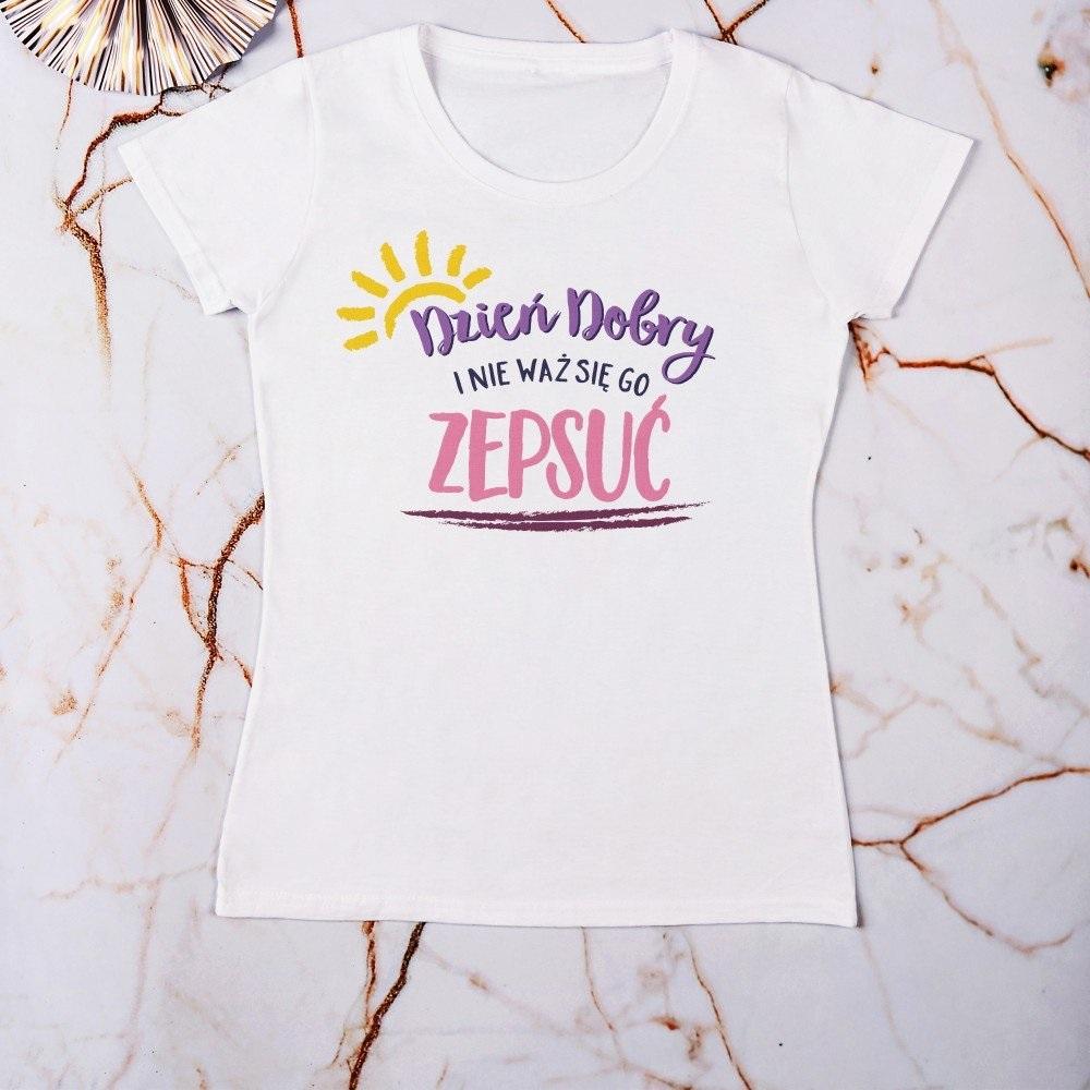 Dzień dobry - koszulki damskie z nadrukiem