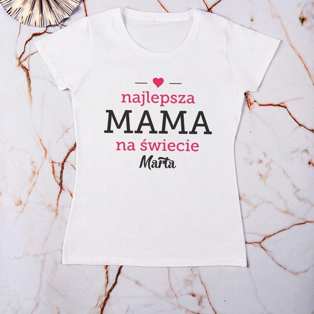Najlepsza mama - koszulki damskie z nadrukiem