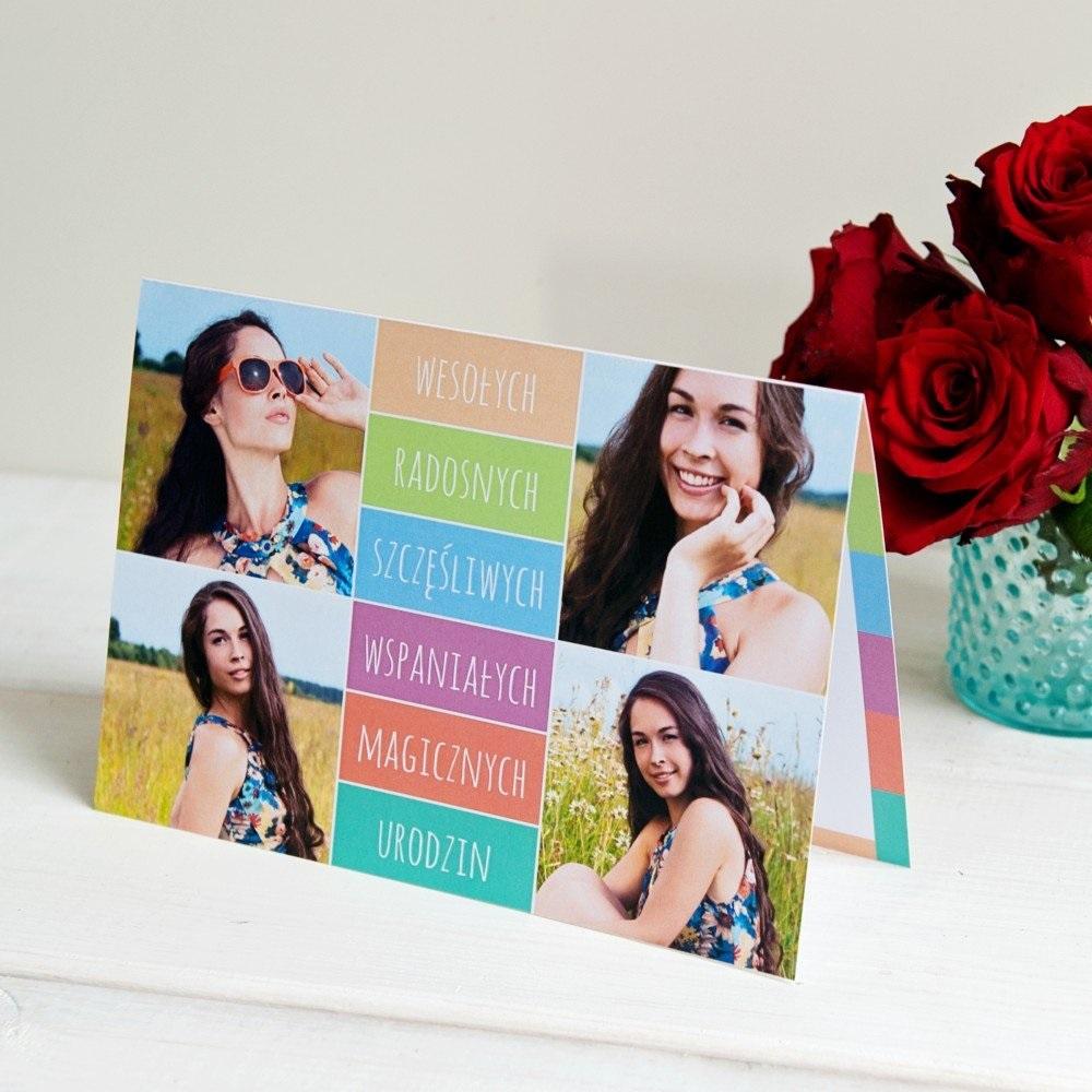 kartka z życzeniami - drobne prezenty
