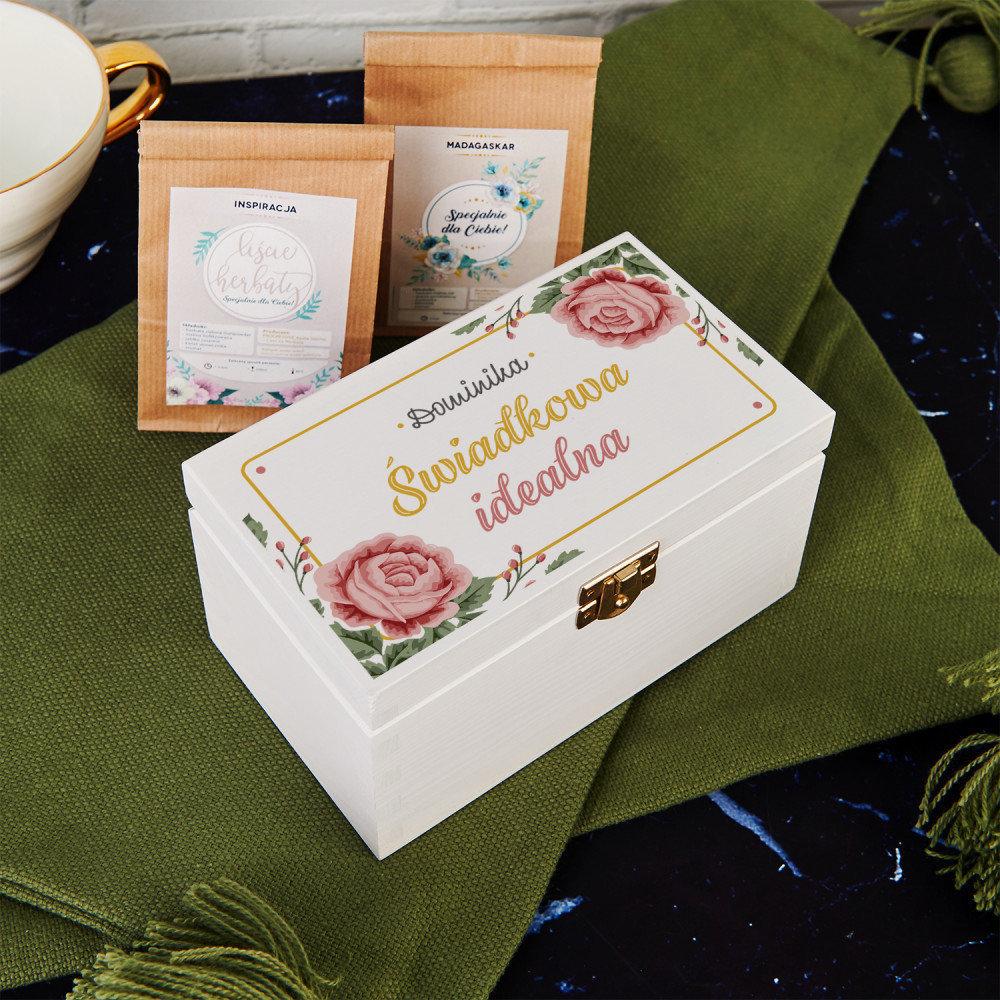 skrzynka na herbatę - prezent dla świadków