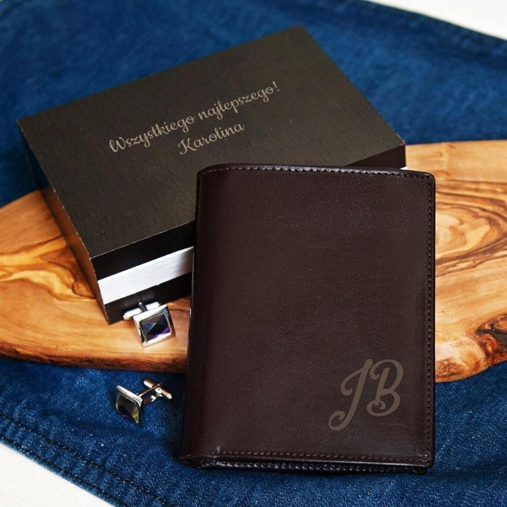 portfel - prezent grawerowany
